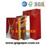 Bolsa de papel de la gran calidad que hace compras con talla modificada para requisitos particulares