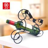 Singolo supporto di bottiglia domestico del vino del metallo della cremagliera del vino della bottiglia di Deco