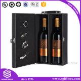 Роскошная изготовленный на заказ упаковывая коробка вина PU кожаный