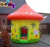 Замока хвастуна грибов дом раздувного оживлённого скача для малышей