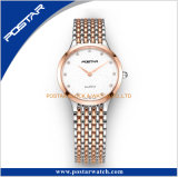 Neue Entwurfs-Form-Uhr-Fabrik-kundenspezifische Paar-Edelstahl-Rückseiten-Uhr