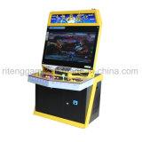 Machine droite de jeu électronique en métal de combattant de rue de poussoir de pièce de monnaie