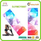Estera lavable sostenida colorida de la yoga de la impresora del caucho natural irregular