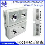 COB LED crece la luz de espectro completo Certificado ETL para las plantas de interior cultivo hidropónico, 370W La verdadera vatios de luz LED