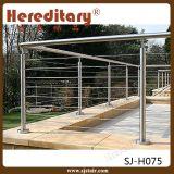 304のステンレス鋼ケーブルの柵のバルコニーのグリルデザイン(SJ-H075)