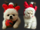 Cappello sveglio dell'animale domestico, cane/cappello natale del gatto, prodotti su ordinazione dell'animale domestico