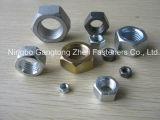 Noix Hex lourdes /Black, galvanisé, HDG de l'acier du carbone ASTM A194 2h