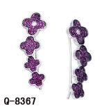Имитационные ювелирные изделия 925 серебряных Earrings. CZ молодых повелительниц