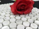 Низкая цена продавая плитку мрамора мозаики Carrara белую круглую