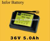 Batería de litio recargable E Scooter Pack 36V 5A