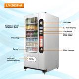 avec le distributeur automatique LV-205f-a de casse-croûte combiné des prix pour le biscuit et le chocolat