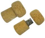 Vara de madeira da memória da movimentação do flash do USB da forma do frasco