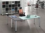 Mobiliário de escritório moderno Glass Boss Executive Office Table