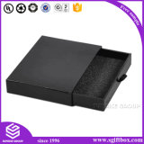 Caixa de presente feita sob encomenda luxuosa preta do papel Handmade da impressão
