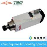 Square 7,5 kW refrigerado por aire Router CNC del eje para un tallado en madera 300Hz Recoger 18000rpm ER32