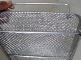 Cestino rivestito domestico della rete metallica del PVC dell'acciaio inossidabile di memoria