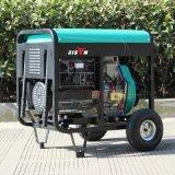 バイソン(中国) 2kVA 2000Wの銅線の単一フェーズのキーの開始のホーム力の携帯用2kwディーゼル発電機の燃料消費料量