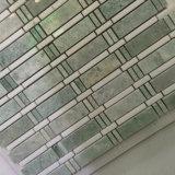 Azulejo de mosaico blanco del artista de la manera de las tiras de Ming de la mezcla al azar hermosa del verde