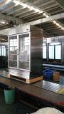 Acero inoxidable para puerta de vidrio refrigerador de cocina con Auto-Sistema de descongelación