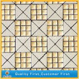 Mosaico di pietra di marmo bianco naturale di arte per la priorità bassa della parete decorativa