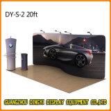 직물 배경막 벽 기치 진열대 (DY-S-2)를 광고하는 전람 부스
