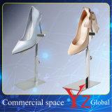 El estante de exhibición del zapato (YZ161510) zapato del soporte de exhibición de acero inoxidable de zapatos zapatero soporte del estante del zapato del zapato titular Exposición Zapato Torre