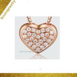 Silver Heart Pave flottante de bijoux pour les femmes de la télécommande