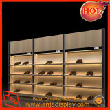 De de houten Montage en Inrichtingen van de Winkel van de Planken van de Vertoning van Schoenen voor Schoen