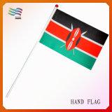 Mini bandierina della mano stampata del poliestere per gli eventi di sport (HYHF-AF023)
