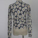 De Sweater van de fijne Dames van de Maat met Leuke Daisy Print Pattern
