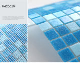 Azul piscina y baño completo mosaico de vidrio (H420034)