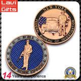 Монетки чудесного и изготовленный на заказ сувенира 2D с цветами