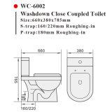 6002 zweiteilige westliche Toiletten-keramische gesundheitliche Waren