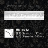 Het Afgietsel van de Kroonlijst van Pu voor de Kroon die van het Polyurethaan van de Decoratie van het Huis hn-8012 vormen