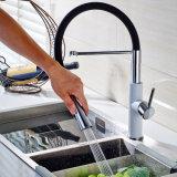 Faucet de lavatório de latão cromado branco