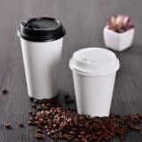 Taza de café doble del papel de empapelar 8oz