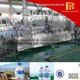 maquinaria que capsula de relleno que se lava del agua de botella 5L