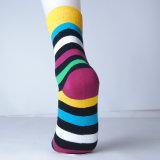 Высшее качество мужчин красочные рад силы хлопок платье носки