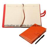 Cadernos magnéticos de couro da composição do jornal com magnético