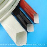 Manicotti rivestiti di silicone resistenti ad alta tensione dell'isolamento del rivestimento del collegare Braided della vetroresina 7.0kv