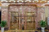 El panel de pared decorativo interior de la hoja de mármol del Faux
