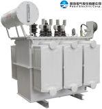En baño de aceite del transformador de distribución con panel de tipo radiador