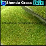 PEの単繊維の反紫外線材料が付いている25mmの人工的な芝生