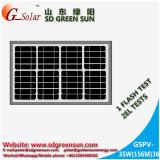 mono painel 35W solar para a luz do diodo emissor de luz