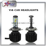 고성능 V16 터보 차 LED 헤드라이트 전구 H1 H3 H4 H7 H11 9005 9006 30W 3600lm LED 맨 위 빛