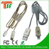 熱い販売100%QCのパスのAppleのiPhoneのためのナイロン編みこみの速い料金USBのデータケーブル5 6 7