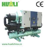 Refroidisseur d'eau refroidi à l'eau de vis chaude de modèle fourni pour l'industrie chimique