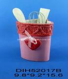Нож сыра нержавеющей стали с керамической ручкой для украшения дня Valentine