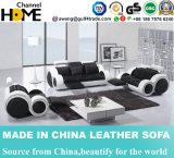 La sala de estar moderna popular del hogar 1+2+3 descansa el sofá de cuero (HC6005)
