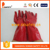 Gant en PVC rouge Ddsafety 2017 Poignet long